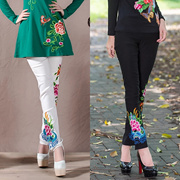 2018 New Exquisite Embroidery Womens Pants National Wind