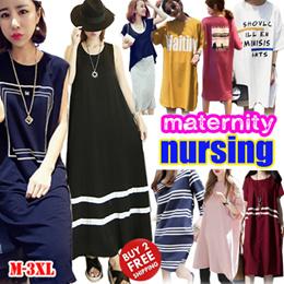 Maternity dress/ Nursing Wear Tops/ Breastfeeding Clothes/Summer Pregnancy Women Clothing Plus Size