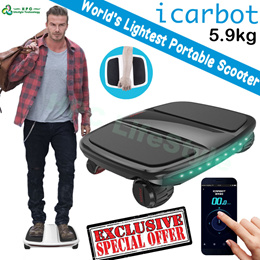 [FLASH SALES][NEW 2016] iCarBot 5.9kg 4 wheel scooter electric self balancing Scooter iCarbot with APP iPhone Android Electric Scooter iCarBot Walkcar light weight portable - Ready Stock
