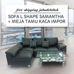 ( FREE SHIPPING JABODETABEK ) L SHAPE SAMANTHA ( TANPA MEJA )