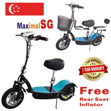 LTA Compliant lithium PMD Electric Scooter E-scooter mobility scooter 3 seats escooter approved