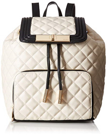 ALDO Citron faux leather quilted drawstring backpack