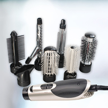 [2017 Latest Model] RiiNO 7 in 1 Multifunction Hair Styling Sets Hair Combs Hair Dryer Hair Curler