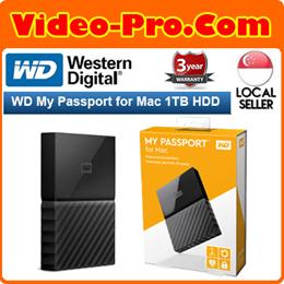 WD My Passport for Mac 1TB Portable External Hard Drive WDBFKF0010BBK