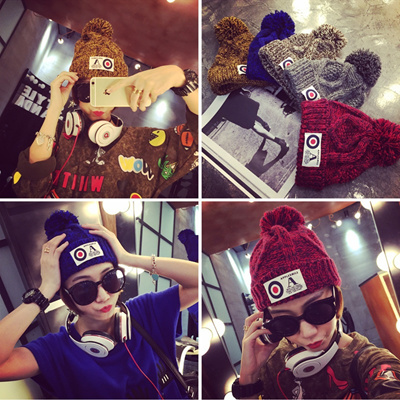 b836181742db83 Winter Hats Women Woolen Knitted Hat Beanie Crochet Warm Winter Hat Cap  Wool Knitted Caps