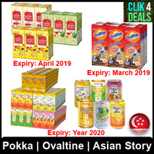 POKKA 24 x 300ml Cans Cartons / Pokka Packets / Ovaltine / Asian Story