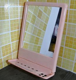 Bathroom mirror makeup mirror with shelves bathroom mirror