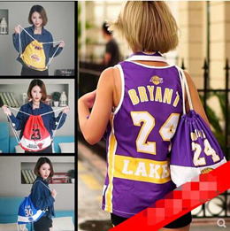 8b59211ada6 Lakers Kobe Bryant James Curry team sports fitness bag outdoor backpack  drawstring shoulders