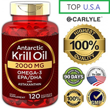 [Omega 3] Antarctic Krill Oil 2000mg-120 Softgels