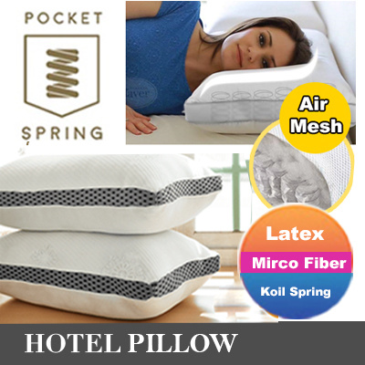 Hotel Pillow – Top pocket Spring Pillow / bed / mattress / Neck and Back Pain-Relieving