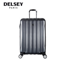Delsey Paris Travel Luggage Helium Aero 69CM/27inch Expandable Hard Case 4 Wheel Trolley - (Silver)