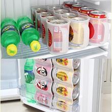 1Pc Transparent Space-Saving Bear Storage Box Refrigerator Storage Organizer (Color: Transparent)