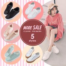 [Free Gift!!] Gracegift-Classic Sneakers/School/Campus/Women/Ladies/Girls Shoes/Taiwan Fashion