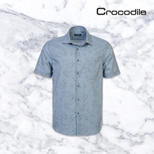 ★CROCODILE OFFICIAL STORE★  PRINTED COTTON SHORT SLEEVE SHIRT
