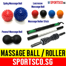 ⏰⚡FREE Shipping⚡ Lacrosse ☘ Spiky ☘ Peanut Massage Ball ☘ Massage Roller Stick ☘ Singapore Seller ☘
