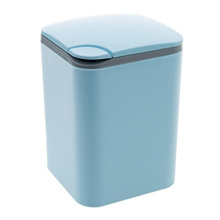 Press Desktop trash bin home living room coffee table Plastic small paper Basket Office Mini Trash B