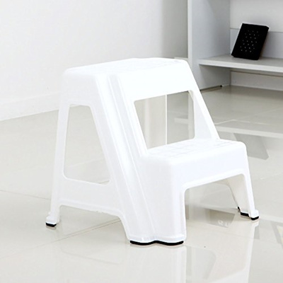 Dual Height Step Stack Stool White Versatile Two Design For Growing Children Or