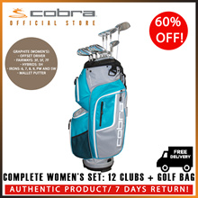 COBRA GOLF Fmax Womens 12-Piece Club Set with Cart Bag ★ FREE DELIVERY ★ AUTHENTIC