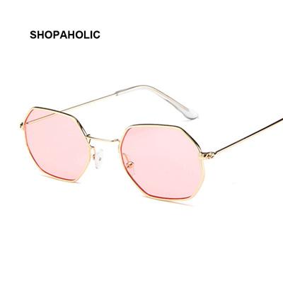 3efd940e6716 Fashion Sunglasses Women Brand Designer Small Frame Polygon Clear Lens  Sunglasses Men Vintage Sun Gl