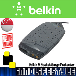 [Authentic] Belkin Gold Series 8-Socket Surge Protector. Lifetime Warranty. F9G823sa4M-GRY