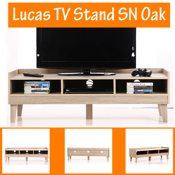 [FREE SHIPPING JABODETABEK] Anya-Living Lucas TV Stand SN Oak Deals for only Rp421.080 instead of Rp421.080