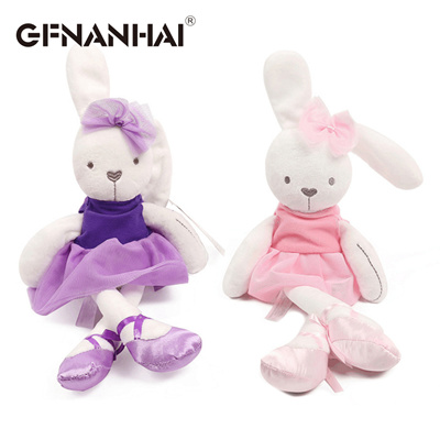 e38ee8967afc Qoo10 - 1pc 42cm cute rabbit wear cloth with dress plush toy stuffed ...