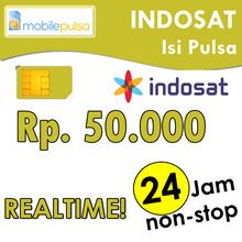 Pulsa Indosat Rp. 50.000- REALTIME 24 jam non-stop! Menambah Masa Aktif (Mohon baca cara pengisian di bawah)