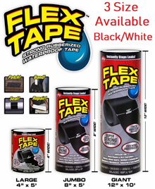 FLEX TAPE - STRONG RUBBERIZED WATERPROOF TAPE * GRIP ON TIGHT * SUPER STRONG * INSTANT