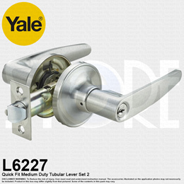 YALE Quickfit Leverset VL6227 US26D LH