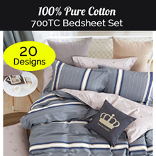 ★700 Thread Count ★NEW DESIGNS100% Cotton Bedsheet Set / Quilt Cover Sets (OVER 10 DESIGNS)