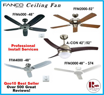 [BEST Selling] Fanco Ceiling Fan FFM3000/FFM2000/FFM4000/FFM6000/ACON Light Kits+Remote+LED Bulb