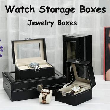 6/8/10/12/20/24 Slots Watch Storage Box/