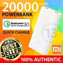 100% Authentic ★ Xiaomi Mi PowerBank Power Bank Gen 2 Ultra Slim 20000mAh 16000mAh 10000mAh 5000mAh