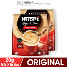 NESCAFE Blend and Brew Original 28 Sticks  2 Packs