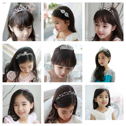 Children Princess Crown Tiara Bridal hairclip band Crystal Crown Hair