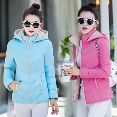 d689d8f6148 Simple Hoodie Design Solid Colour Slim Fit Plus Size Winter Jacket (7  Colours Available)