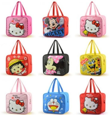 Plush Lunch Bag Box For Mickey Minnie Holle Kitty Portable Insulated Cooler Bags Thermal Food Picnic Lunchbox Children Handbag Functional Bags Luggage & Bags