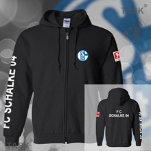New  MENS  Hoodies Fleece Jacket Schalke 04 Football Jersey CARDIGAN SWEATER