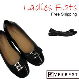 [EVERBEST] BTN 0002 Ladies Flats /Synthetic Leather. Size 35-39 available! FREE Delivery