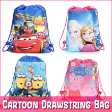 🌸 Cartoon Drawstring Bag Backpack Goodie bag Kids Children birthday Party Gift Tuition Bag pencil