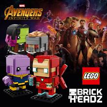 41604 Lego Brickheadz: IRONMAN MK50/ 41605 THANOS/  41606 Star-Lord/ 41607 GAMORA/ 41609 CHEWBA/ 416