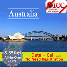 ◆ ICC◆【Australia Sim Card 】❤ 4GLTE + Call*❤Up to 35GB 4G data ❤Unlimited data(Plan D)❤ Plug and data