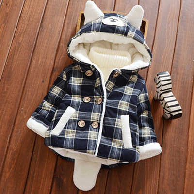 be72dfbe55d6 Qoo10 - 0-1-2-year-old girl baby winter cotton Dress Boy jacket 3 ...