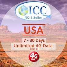 ◆ ICC◆【U.S.A America Sim Card·7-20 Days】❤ATT/T-mobile Network❤Unlimited  data❤Plug and Use