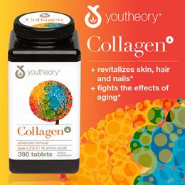★최저가★ 미국 유씨어리 콜라겐 먹는 콜라겐 영양제 youtheory Collagen Advanced Formula 390 Tablets