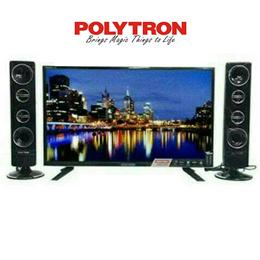 Polytron 32T7511 Led Tv Cinemax 32inch - Speaker Tower Free Ongkir Jadetabek