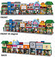 Set of 8 Street Shops Lookalike Series Loz Mini Block Figure [Birthday Gift/Present/DIY]