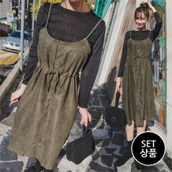エンビルク行き来するようにエンビルク鍋セットワンピース 綿ワンピース/ 韓国ファッション