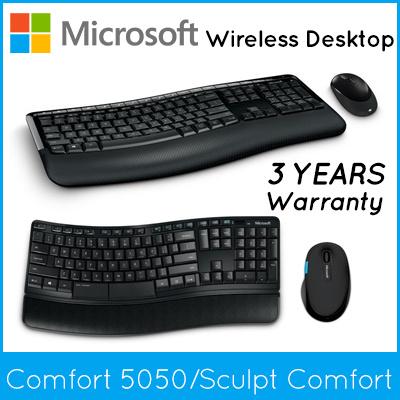 b1c53af8b26 Microsoft Wireless Comfort Desktop 5050 / Sculpt Comfort Desktop / Keyboard+Mouse/  3 Years