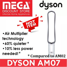 DYSON AM07 TOWER FAN (WHITE/BLACK) / LOCAL WARRANTY